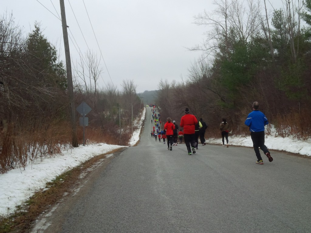 Rolling Hills around 3km mark of the Egg Nog Jog