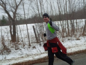 Ben running the Egg Nog Jog