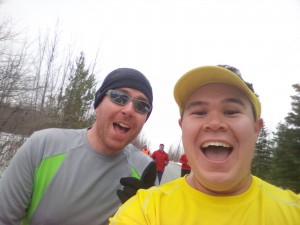 Selfie with Ben at the Egg Nog Jog