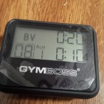 My Gymboss interval timer. Evil little device that also works as a great stopwatch to keep me from resting too much between sets