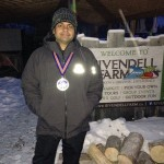 Ryad at the end of the Yukon Arctic Marathon (from his Facebook page) (used with permission)