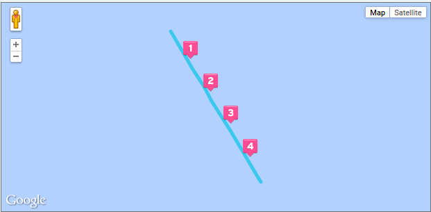 Garmin route for a little walk I took around the Celebrity Century, March 15, 2015 (from DailyMile)