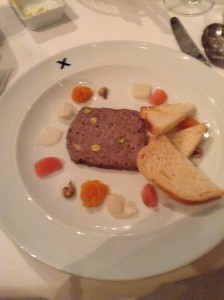Some sort of pate appetizer... nicely presented though