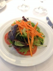 Salad. It had a fancy name but I can't remember it...