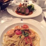 Shrimp Pasta and Lamb Shanks