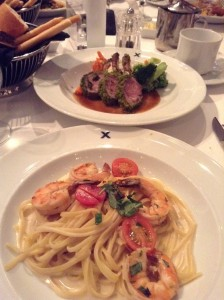 Shrimp Pasta and Lamb Shanks