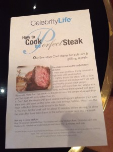 "Handout from ""How to Cook the Perfect Steak"""