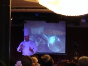 "Executive Chef demonstrating how to cook the ""perfect steak"""