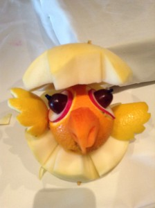 Vegetable Carving: Chick