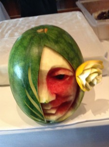 Carving Demonstration: Face from a watermelon