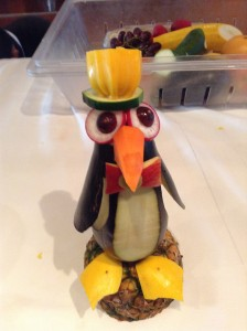 Carving Demonstration: Penguin from Eggplant and other fruits and vegetables