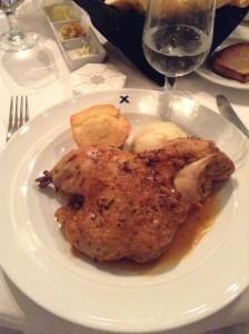 Half a chicken. Yes, an entire half-chicken!!