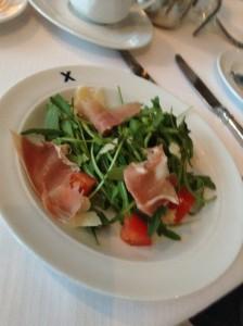 Prosciutto and salad