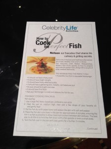 "Handout (part 1) of ""How to Cook the Perfect Fish"""