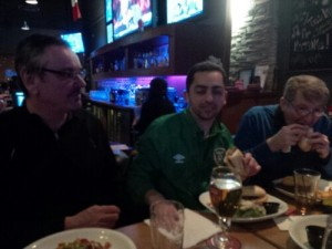 Phil, Andrew, and Bob at the Carb-Loading Dinner