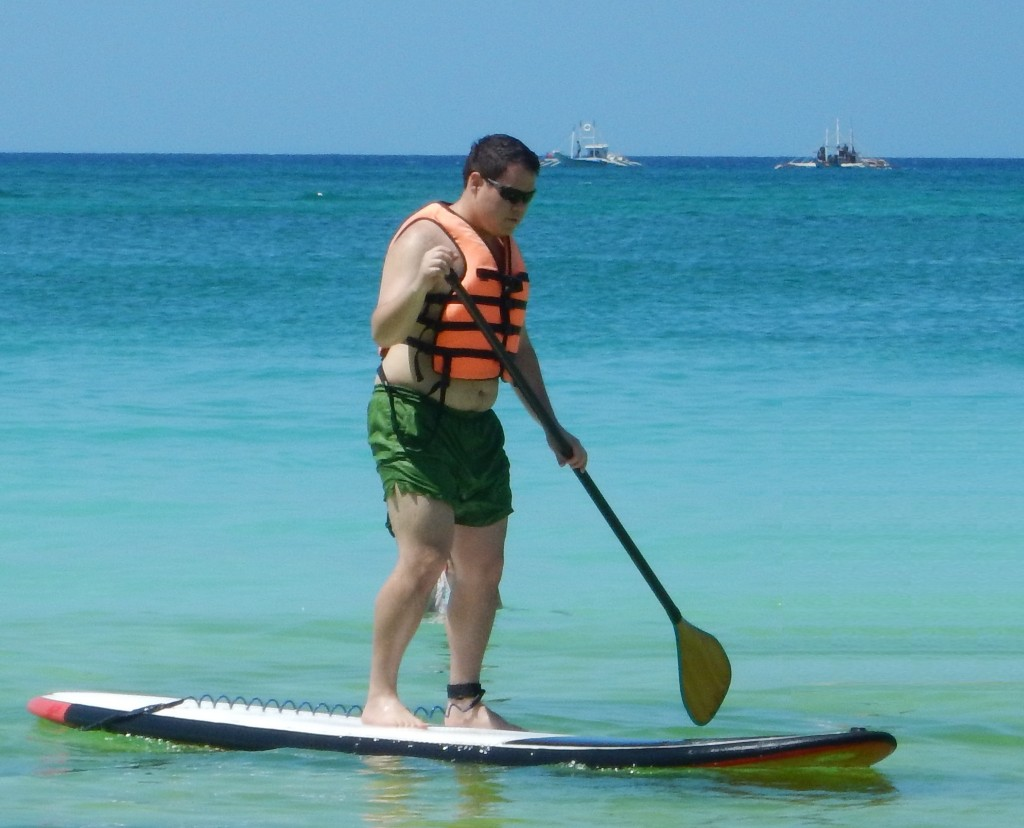 Stand up paddle boarding in Boracay, Philippines
