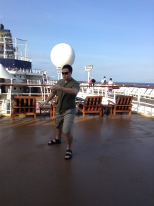 Tai Chi by myself on the deck of the Celebrity Century