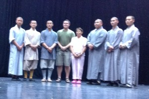 With the Shao Lin Monks after a Qi Gong class