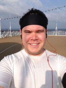 Selfie on jogging track of Celebrity Century