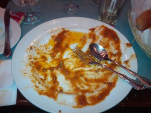 Cleared my plate of that wonderful pasta