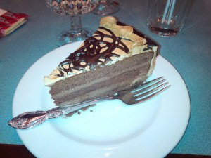 And after the pasta I was still hungry so I ordered a slice of cake too