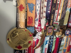 Detail of this season's medals added to my collection