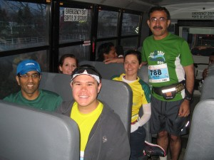 On the bus to the start line (Photo courtesy of Javaid)