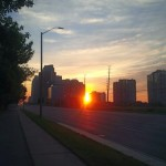 Runrise over Mississauga as seen during a #5amRunClub run