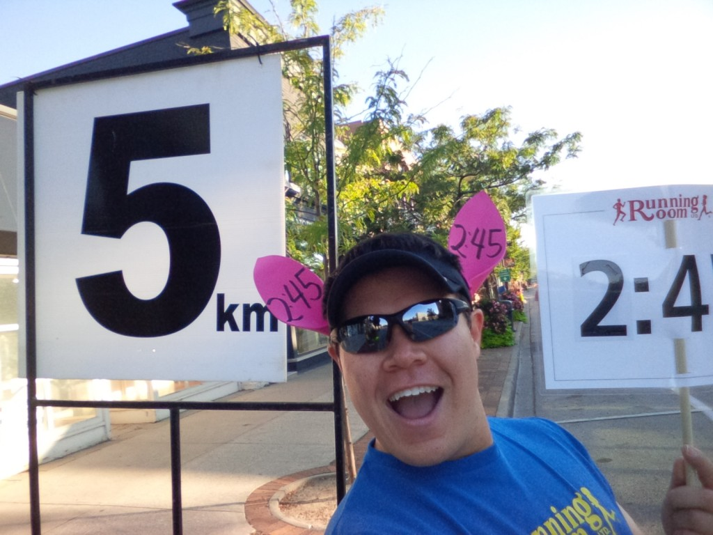 "First of my ""live tweet"" selfies during the Oakville Half-Marathon this year"