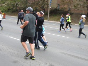 Shot from behind of me running the Scotiabank Toronto Waterfront Half-marathon 2015. Photo credit Mark Young