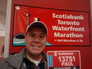 Selfie at the expo with my race bib
