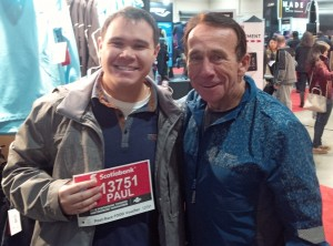 Obligatory photo with the Running Room's John Stanton. He still remembers me and wants me to send him my race report after the TCS NYC Marathon