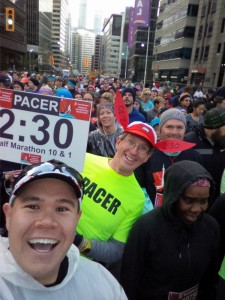 Pre-race selfie featuring the 2:30 run/walk pacer, Paul. Not me this time! This was the last time I saw him all race...