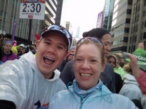 Selfie with Anita before the 2015 Scotiabank Toronto Waterfront Half-Marathon