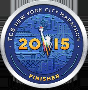 TCS New York Marathon finisher digital badge