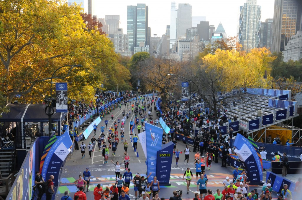 Finish line in Central Park