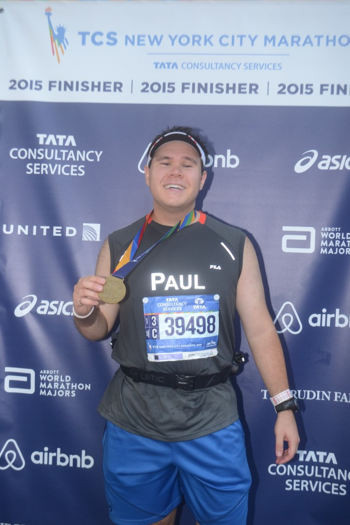 Finisher photo for TCS NYC Marathon