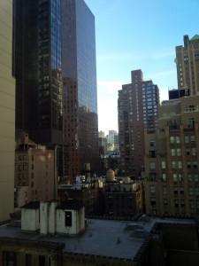 View from my hotel room, 51st and Lexington, facing south towards 50th street