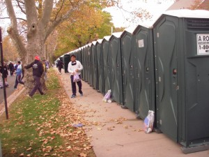 SO MANY PORTA POTTIES!!!