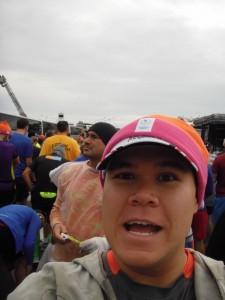 One last selfie before the start
