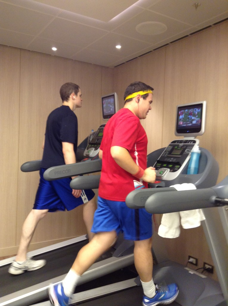 Hitting the treadmill aboard the Island Princess