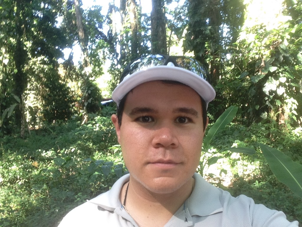 Selfie in a Costa Rican rainforest