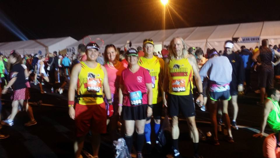 Met up with some fellow Marathon Maniacs before the Walt Disney World Marathon