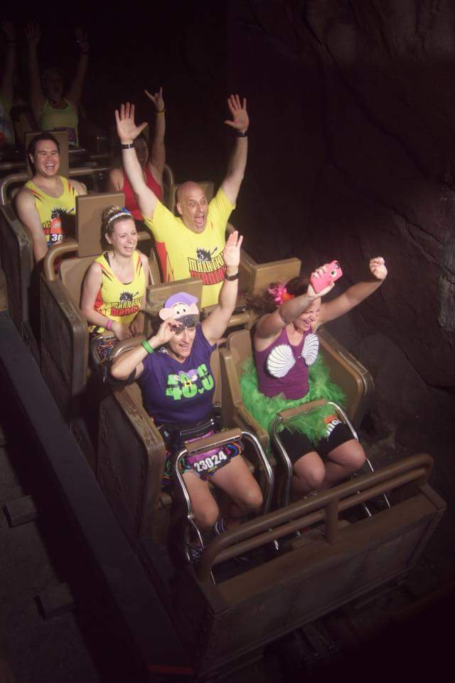 Riding the Expedition Everest roller coaster DURING the Walt Disney World Marathon