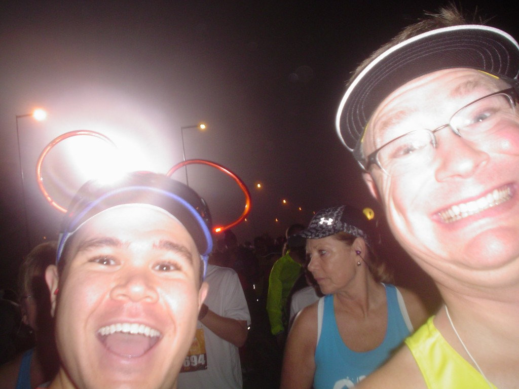 Selfie with Jason before the Walt Disney World Half-Marathon