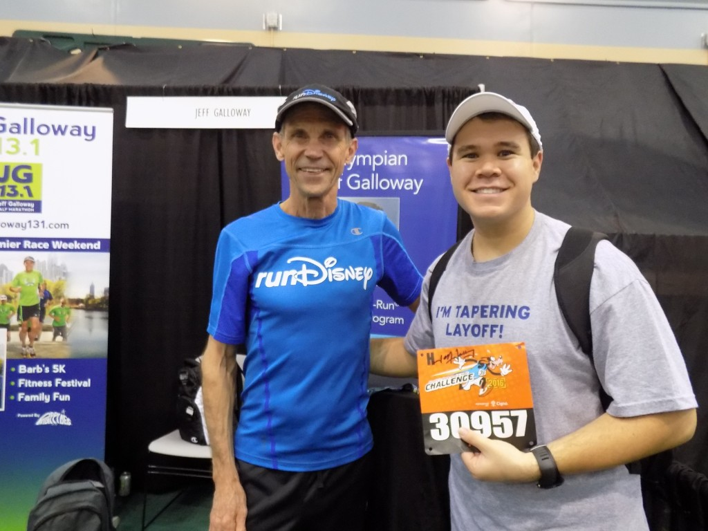 With Jeff Galloway at the Walt Disney Marathon Weekend expo