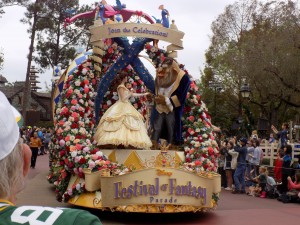 Festival of Fantasy Parade at Magic Kingdom: Beauty and the Beast Float.