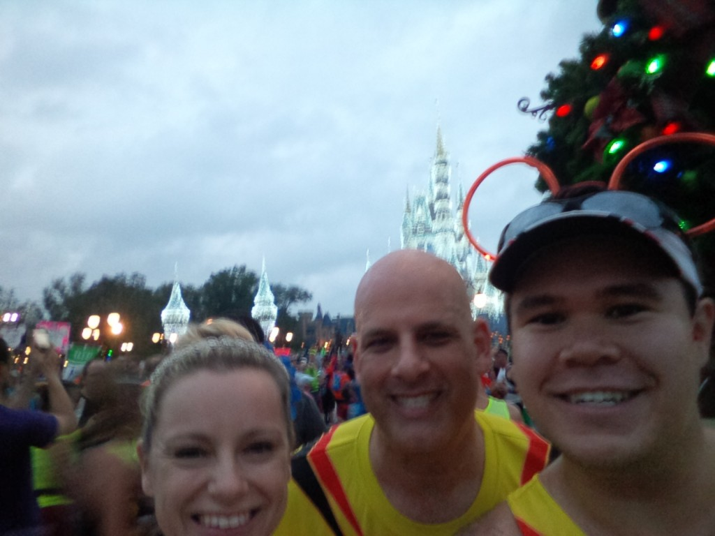 Selfie with Sarah and Larry at the Magic Kingdom during the Walt Disney World Marathon