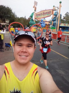 Selfie around the halfway point of the Walt Disney World Marathon