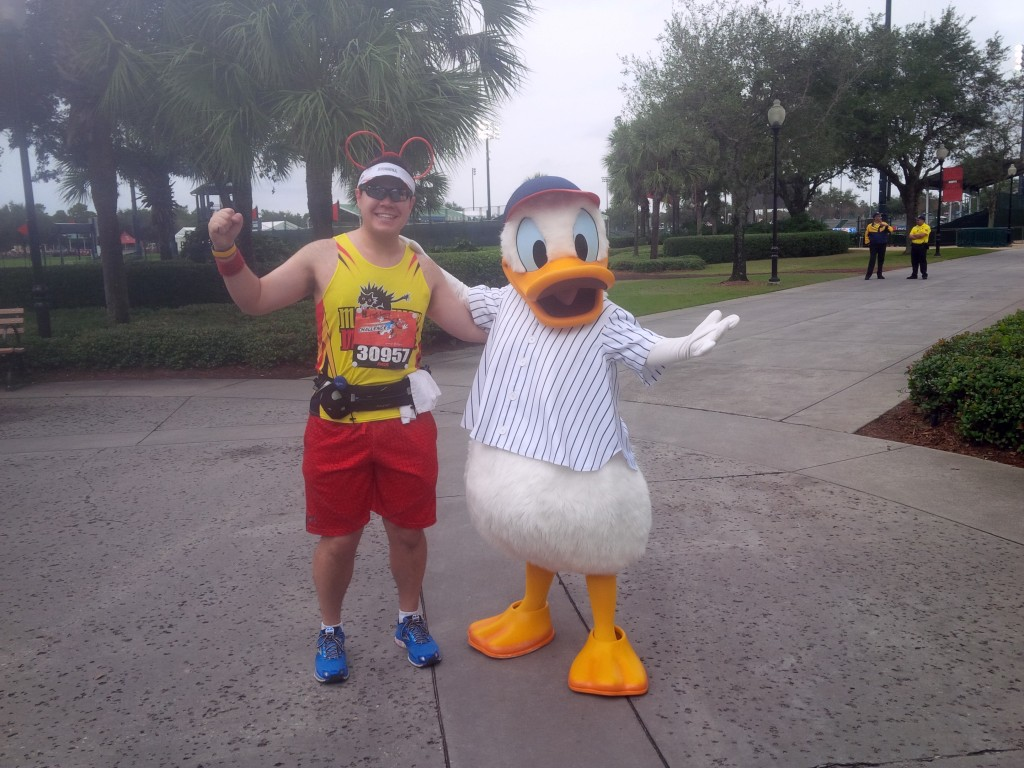 Posing with Donald Duck!
